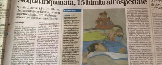 Allarme acqua inquinata – Articolo Giornale di Vicenza